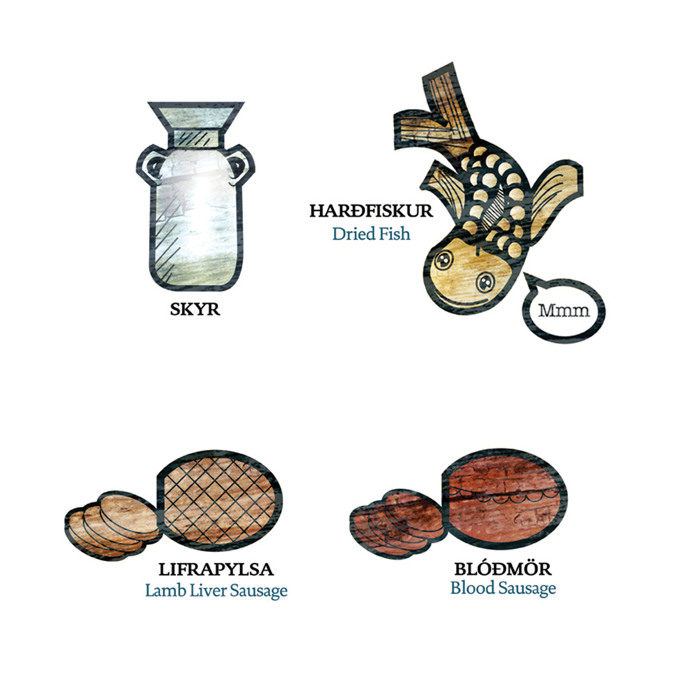 Blood sausage is actually really good when its spiced right, liver sausage too. Make sure to grab some hangikjöt!
