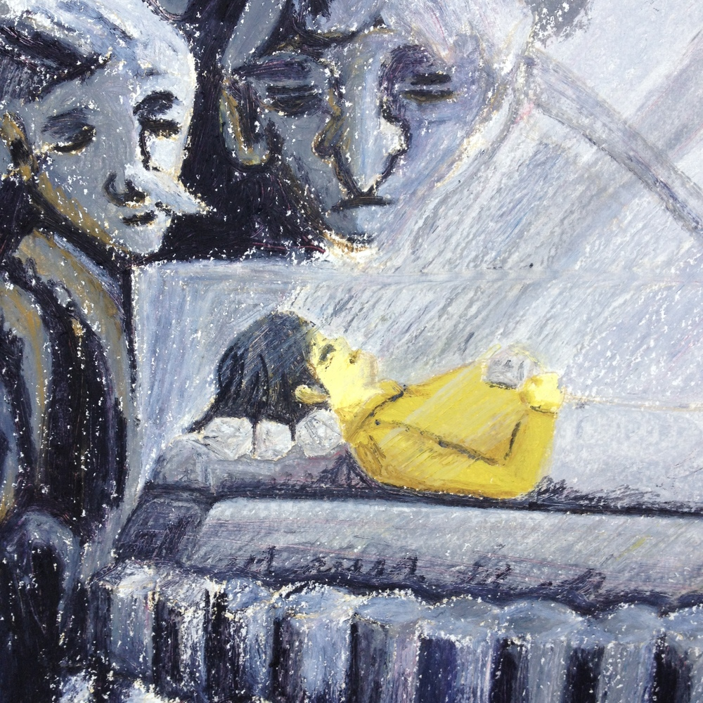 Detail of trolls and the man's wife.