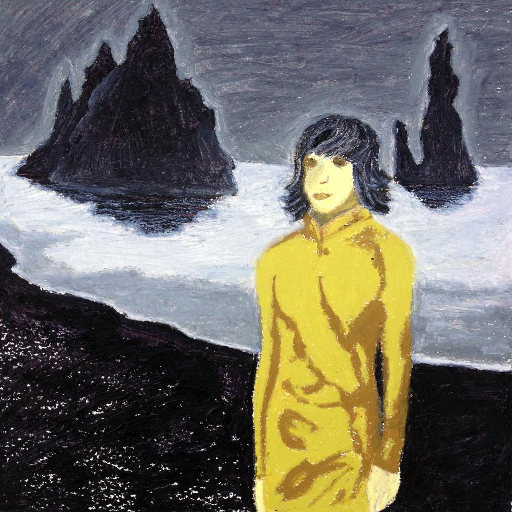 Oil pastel undercoat