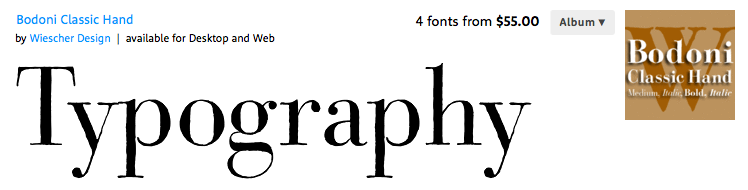 "This is a hand-tooled version of a very popular font called, ""Bodoni"". It's very formal, and book-like. It is the most contemporary thing that will probably appear in the whole book. The hand-tooling makes it special, and quite paradoxically, makes it more part of today's design preference. We don't like those sharp ultra-clean modern stuff nowadays anymore. Suffocating, let things fall apart a little. We want the nuance, the wabi-sabi, the imperfection that gives things their soul. I'm using this for the ""and the"" part of the time. A little elegance to transition from heavenly ""Husband""  to the treacherous ""Trolls"". The font is a similar color the the Payne's grey etching ink I used throughout the illustrations, to set it back a little; there is no reason ""and the"" should overshadow or stand out over ""Husband"" or ""Trolls"" but it still needs a little design attention."