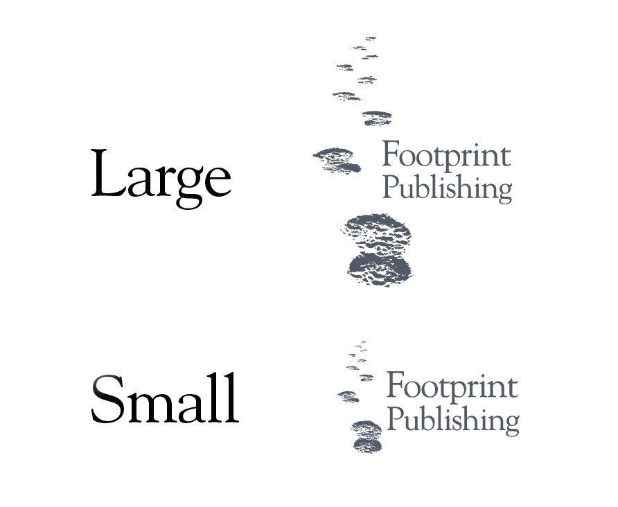 The Footprint Publishing logo and typographic layout.