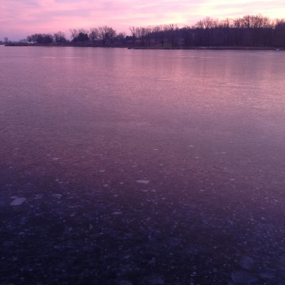 Frozen Violet Lake, Shabbona, IL