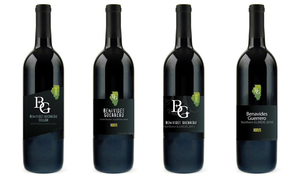 Benavides Guerrero Wine, Graphic layout design