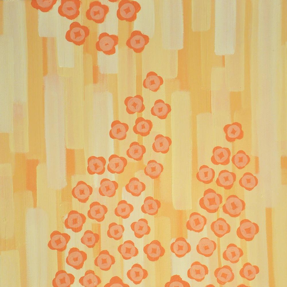 Quinoa blossoms, Oil on canvas
