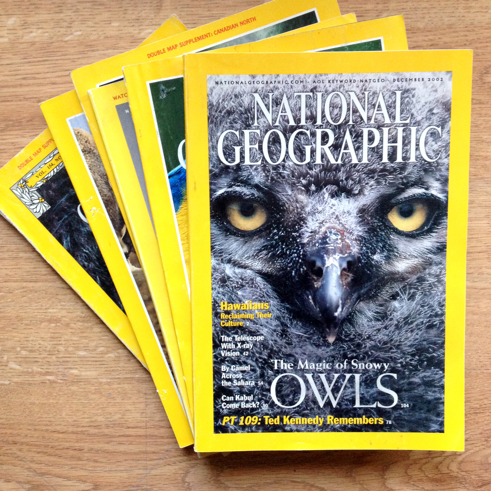 National Geographic magazines are a great resources for photographic samples.