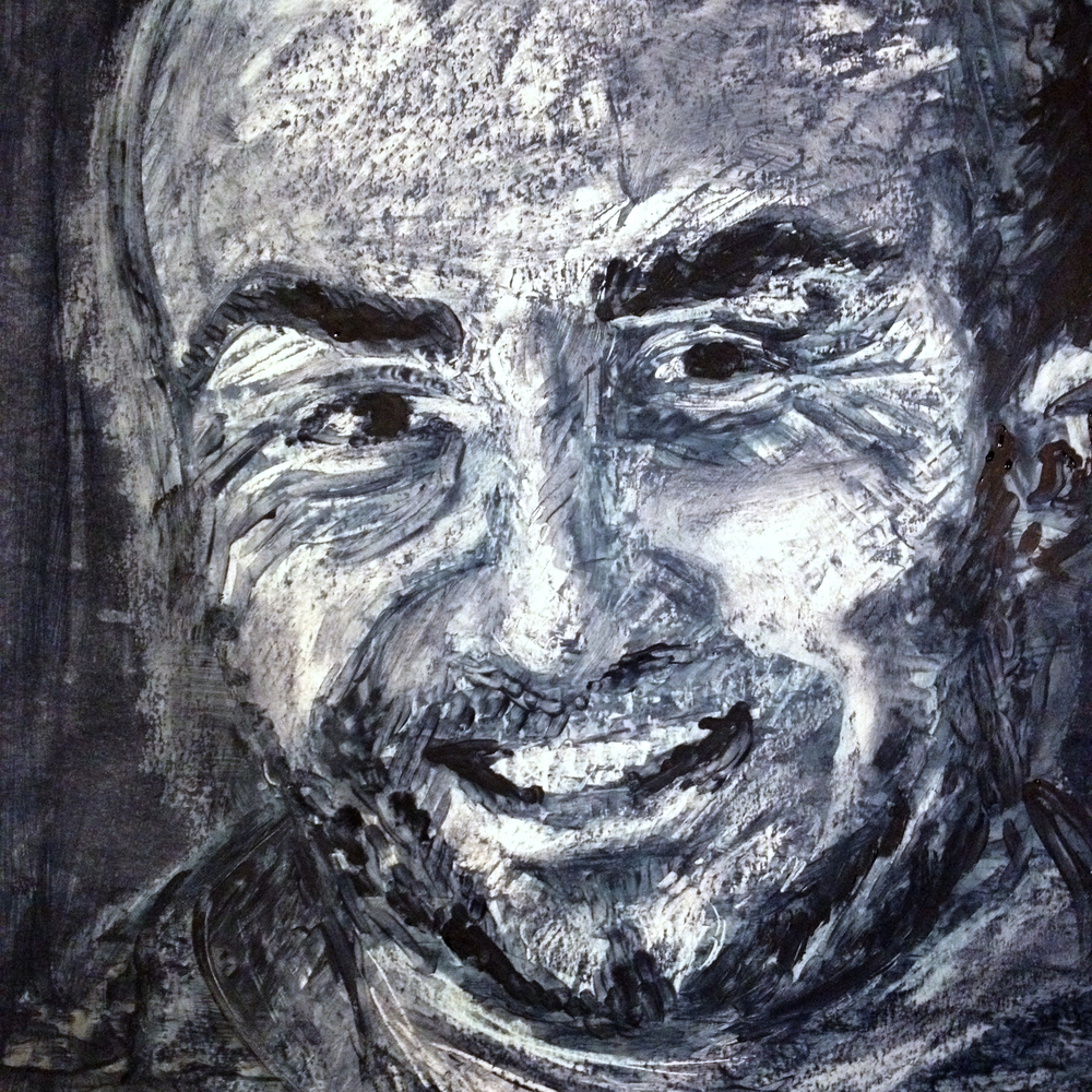 Sergio, Oil pastel and ink