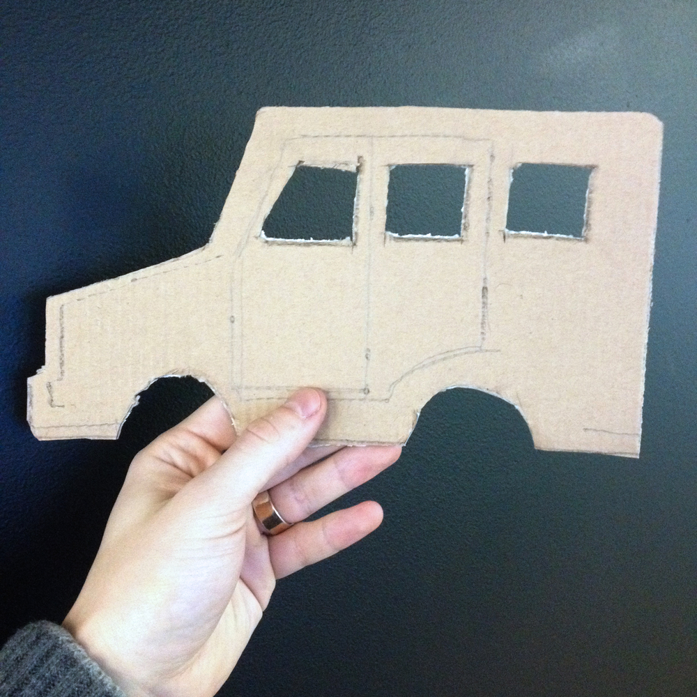 Make sure your design is nice and sleek! Scissors will do a fine job if you're using cardboard like we did here.