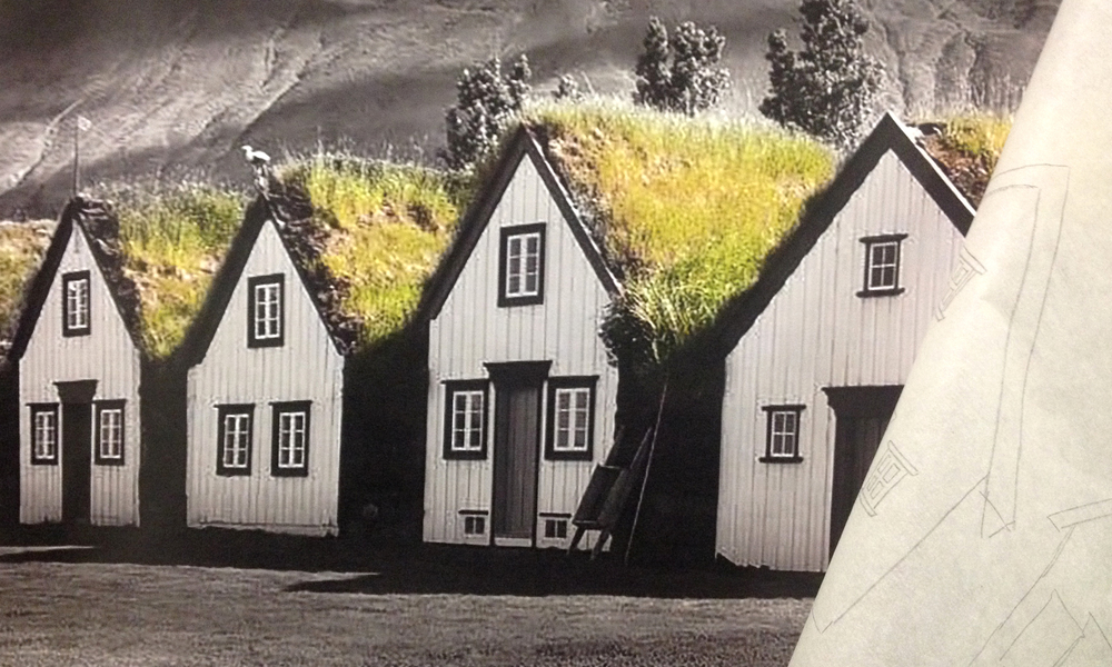 Icelandic turf-houses
