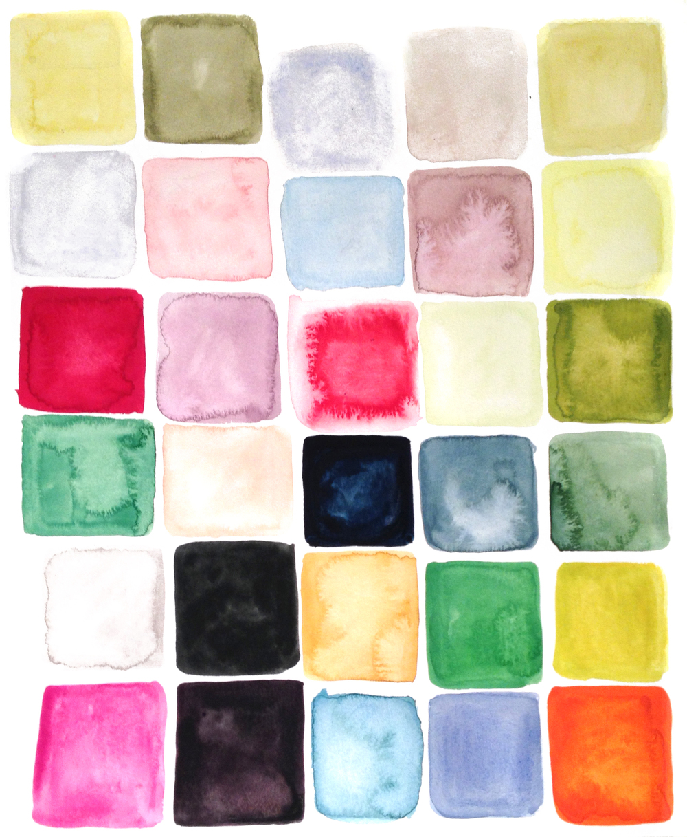 Color-board, Gouache