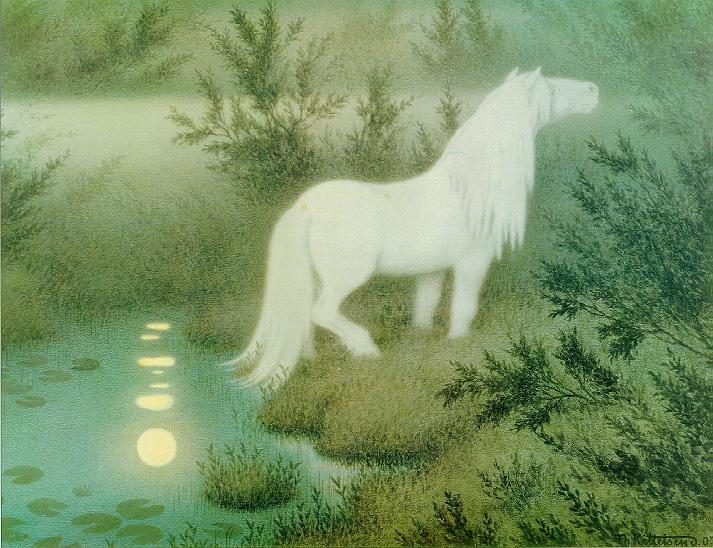 Nøkken som hvit hest, 1909 (The Nix as a white horse)