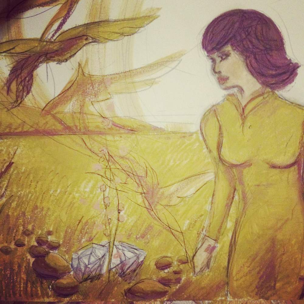 Soul Somersault, Oil pastel