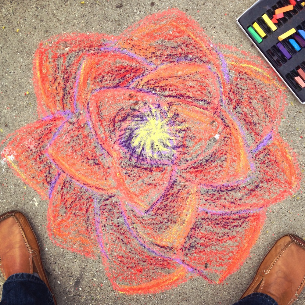 Sidewalk Drawing, April 2015, Saint Charles, IL
