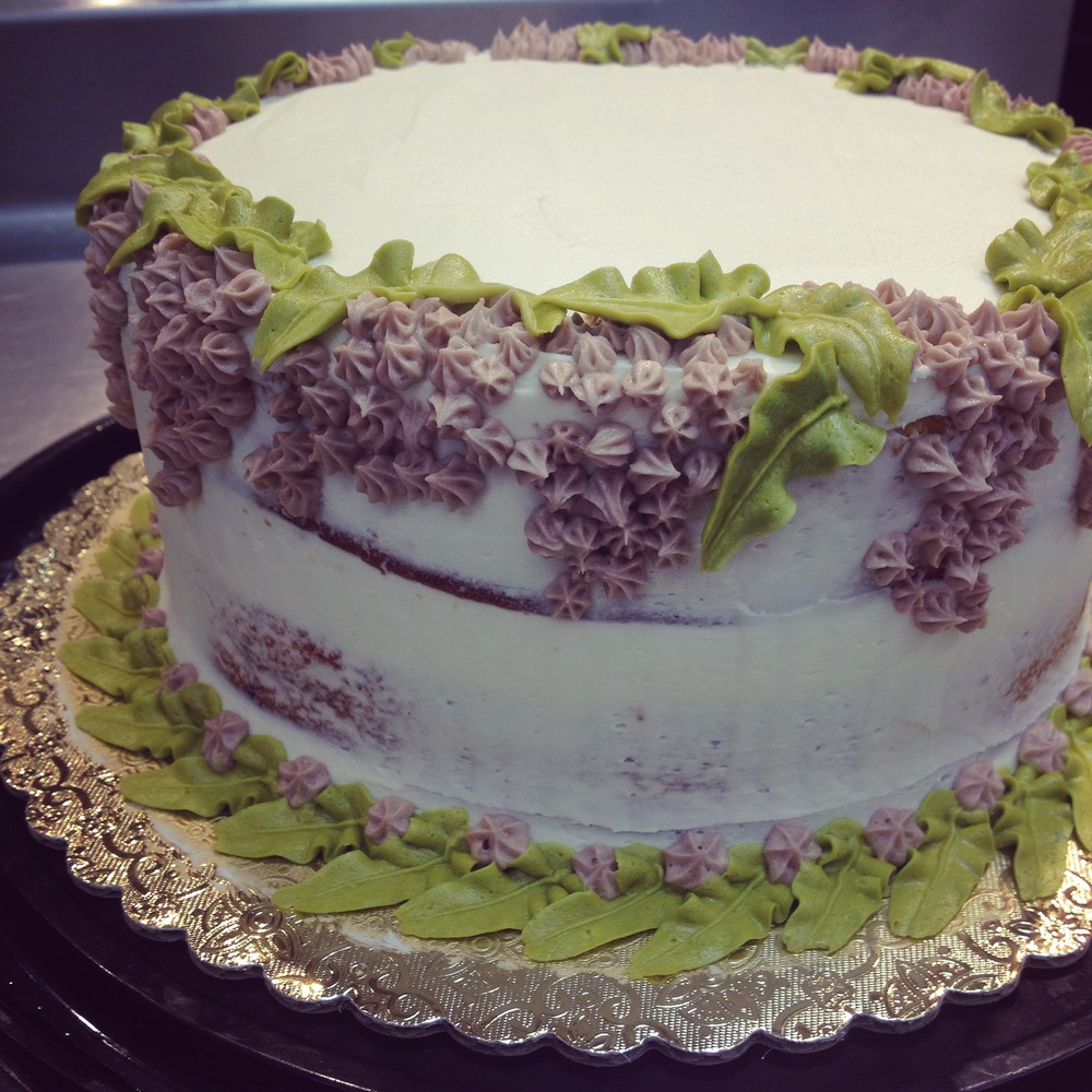 Lilacs, Buttercream and marble cake