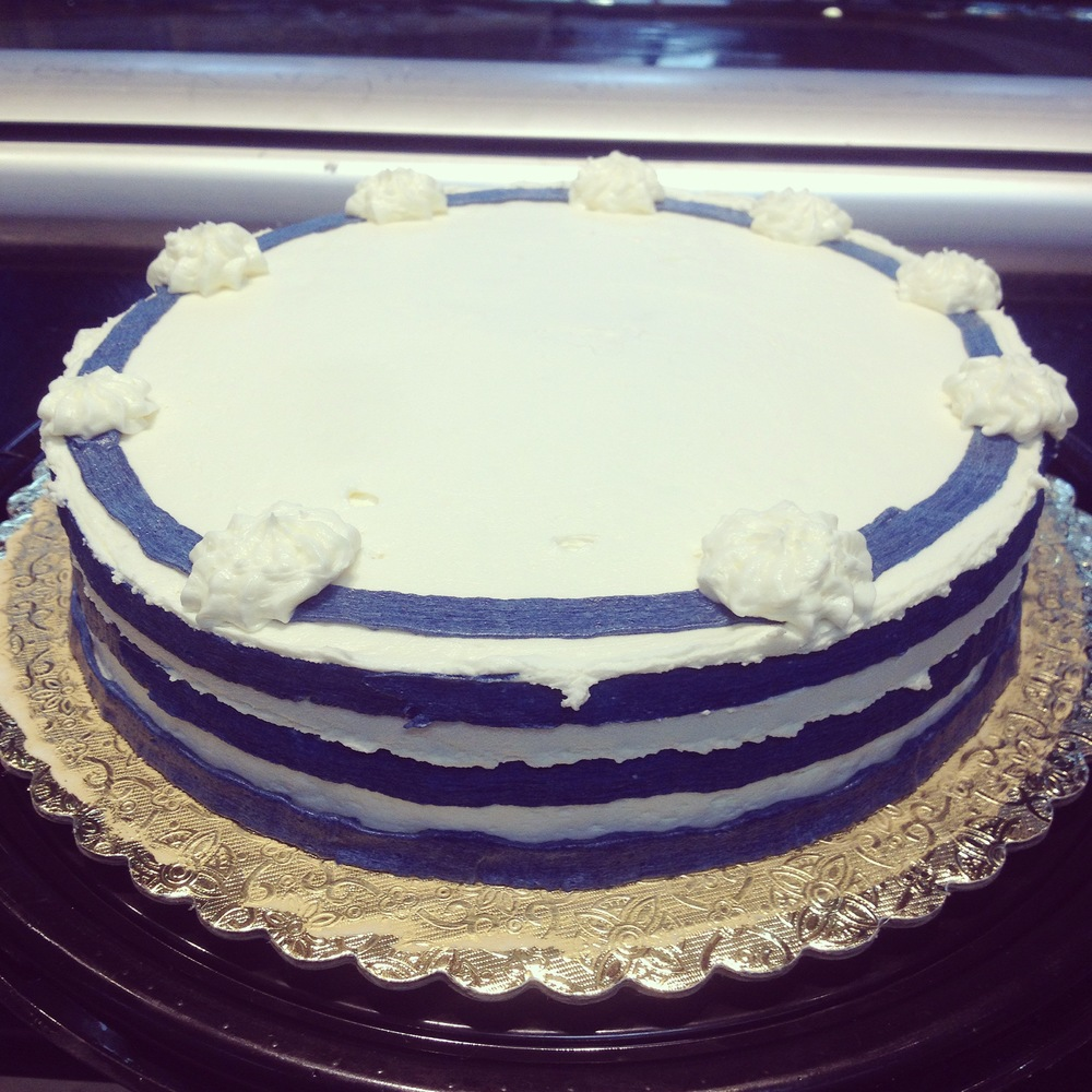 Nautical blue cake