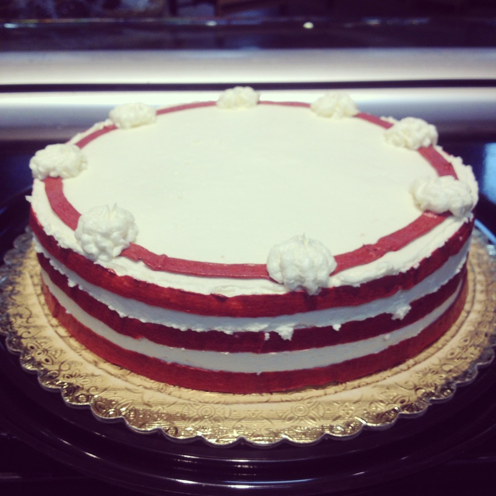 Nautical red cake