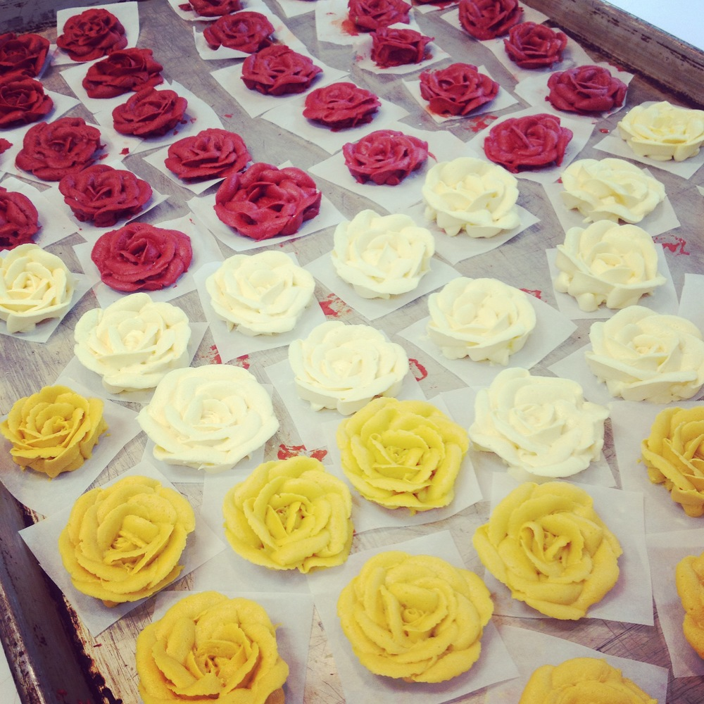 Selection of Butter-cream Roses