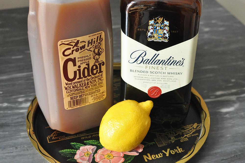 Apple Cider, Scotch, and Lemon