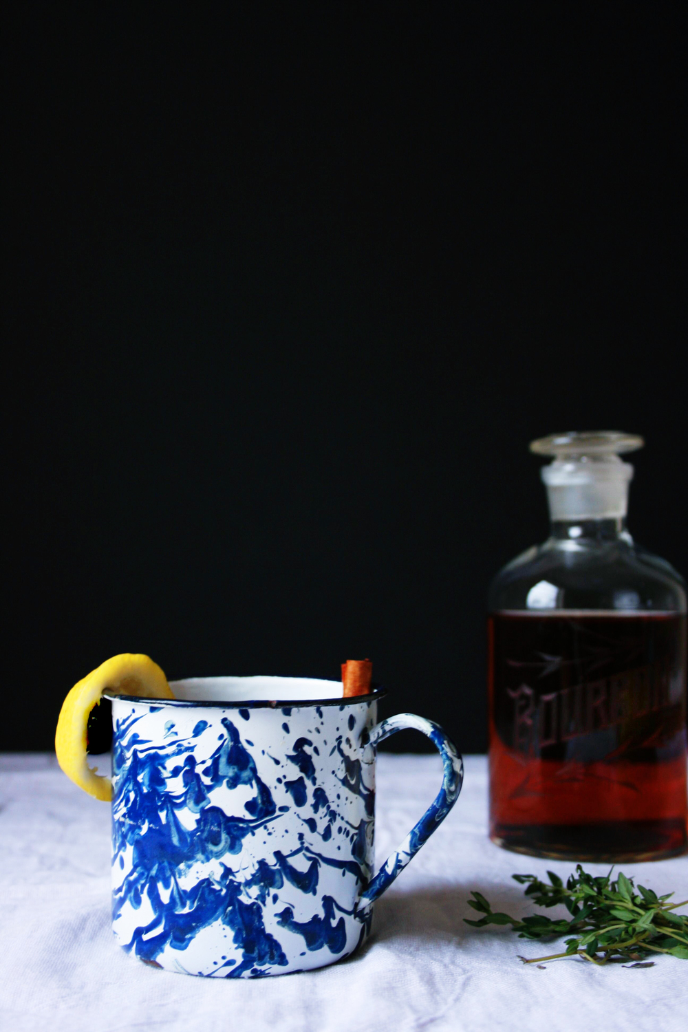 bourbon hot toddy with lemon