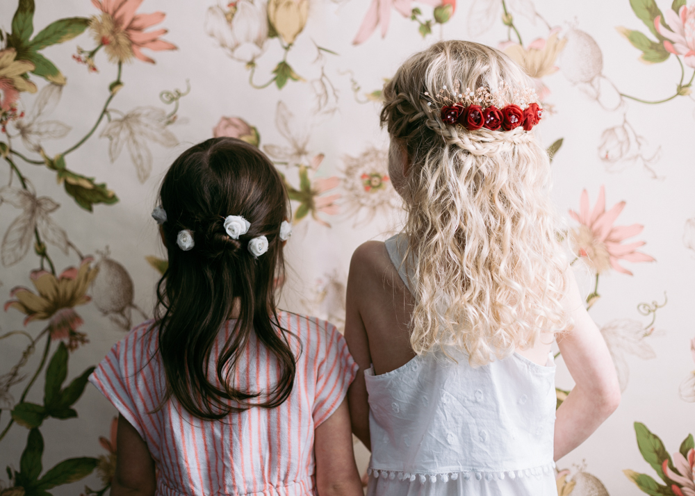 Brooklyn Flower Girls and Floral Wallpaper