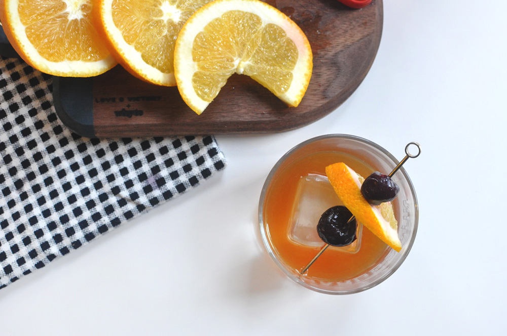 Brandied Cherries and a Classic Old Fashioned Cocktail Recipes