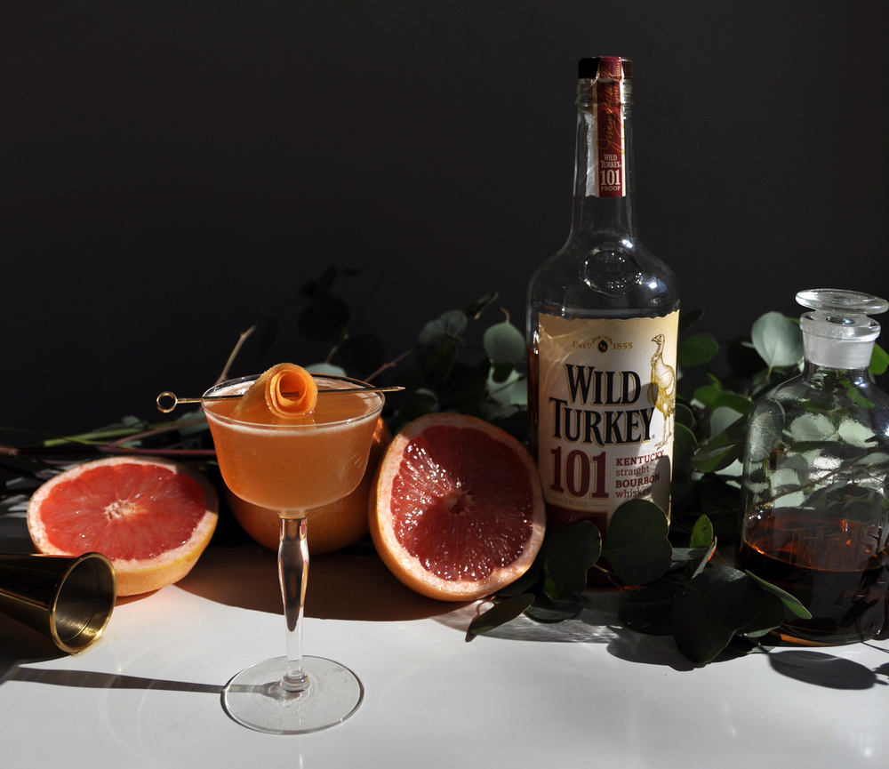 Love & Victory — The Remedy Cocktail — grapefruit, bourbon, cardamom, & honey