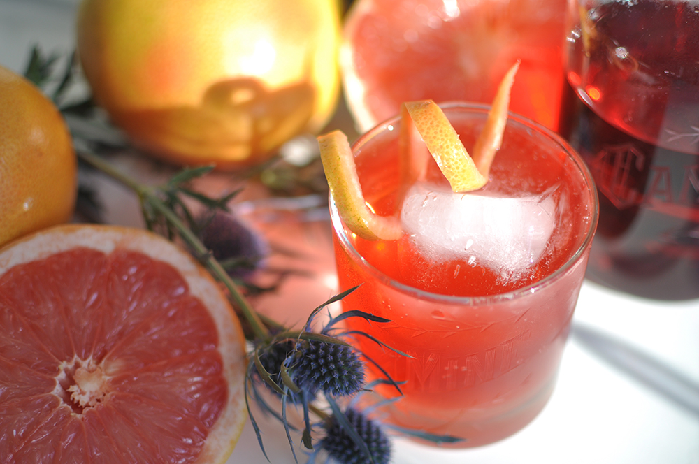 Grapefruit Campari Soda - Cocktail Recipe on the Love & Victory Blog