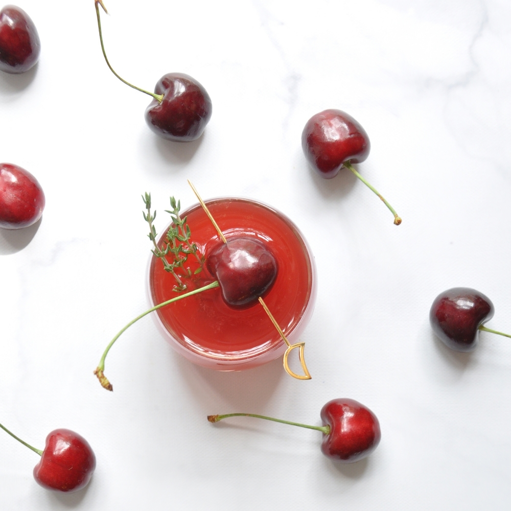 Cherry Thyme Cocktail Recipe