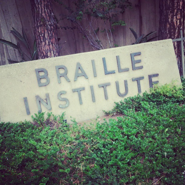 I'm here at the Braille Institute of Los Angeles as we fledge forward to make not just my work but social/political art as a while more accessible to blind people. Amazingly, the illusion of race is even an issue amongst the blind.