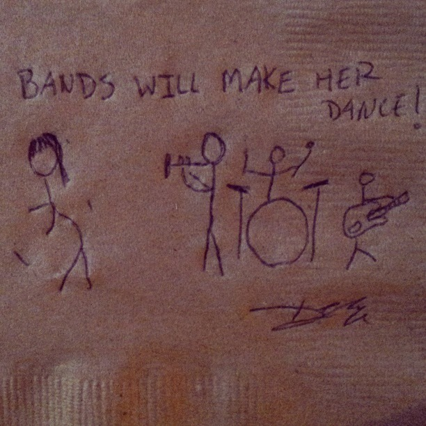 Bands will make her dance.