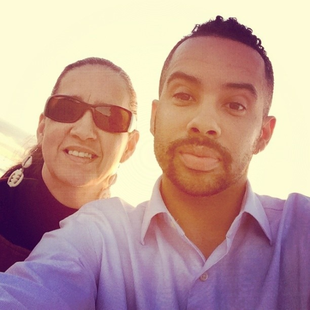 Me and my mom taking in a Cali sunset in LA for my birthday. Sharing stories, learning, and growing. #La #sunsets  #birthday #whatmatters #love