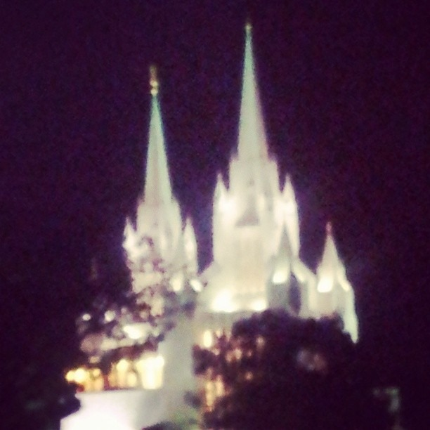 """Hey Mama! Its that where Thor lives?!""  ""No baby, its the Mormon Temple…"""