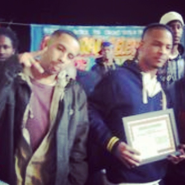 #ThrowbackThursday  me and the good brother #TI building with the youth