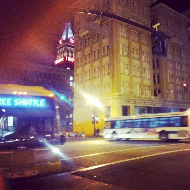 Strolling through downtown #Oakland #Oaklandcitynights PS: Hipsters are just shabby looking capitalist