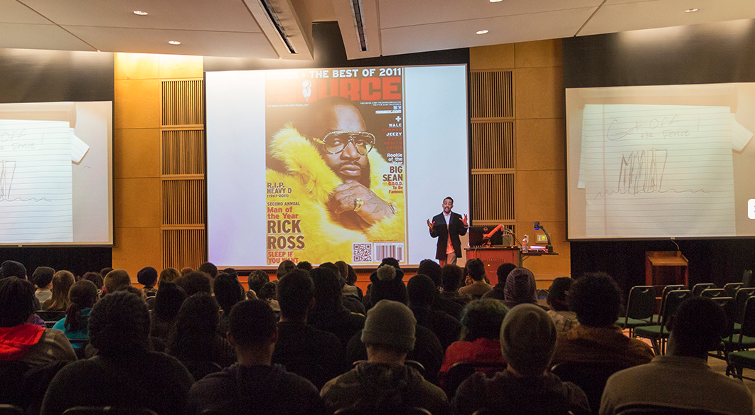 Presenting a university lecture last week. Fun times. #oneatatime