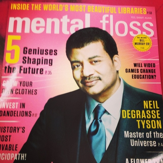 Genius bro Dr. Neil Degrasse Tyson is on the cover of #mentalfloss magazine. Get a copy! Great articles inside