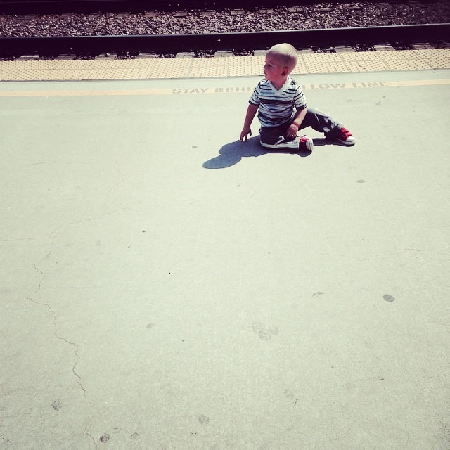 I've decided to photo document the wonders of irresponsible parenting I witness in my travels. Here, these parents were sitting about 40 yards away while their toddler enjoyed sun bathing NEXT TO TRAIN TRACKS!
