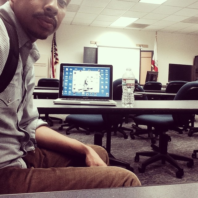 Yep! Believe it or not this is me in a backpack. I'm normally in the front of the room teaching, but I've enrolled in a business class to  sharpen my saw and increase my beast. Keep learning y'all. #education #wisdomispower #lifestudent #business #growth #789