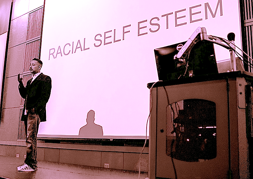 Generally, non-white people suffer from a lack of racial self -esteem. We are generally negotiating and or being strategic about our heritage and culture, rather than affirming it. Our feet not being planted firmly in who we are (and that is not always so black ( or Brown/Yellow/Red) and white- makes it easy for us to be marginalized and consistently out of the power conversations and actions of the world. Show me a people who are firm in their cultural and racial being and I'll show you a people who flourish in aspects of their economic, educational, and spiritual existence as well.