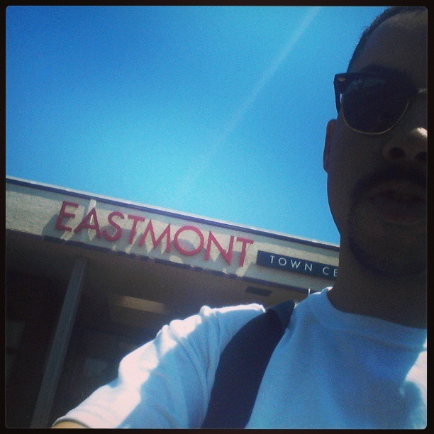Can't get more #east #Oakland than Eastmont. Good to visit home for a few days