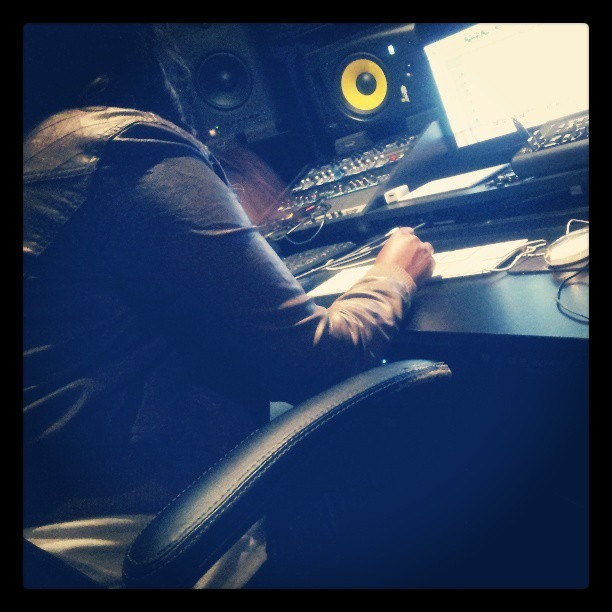 Engineer at the studio today is a sister. Shot out to #women in #hiphop