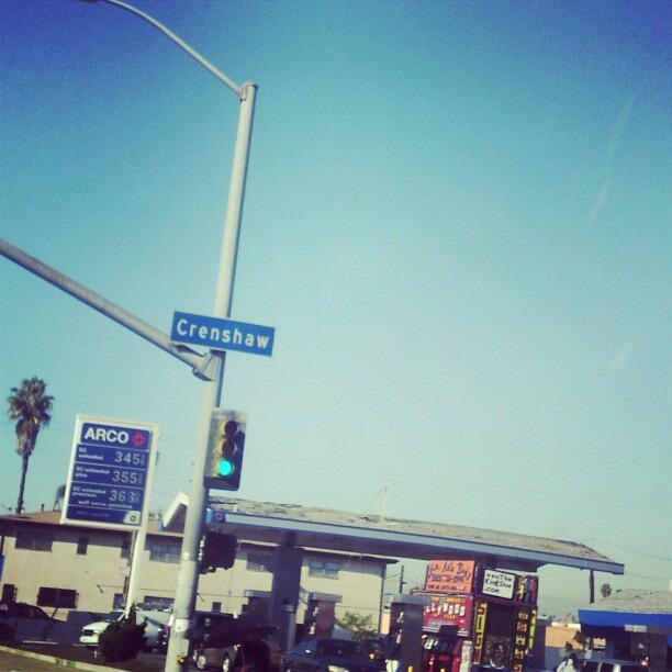Brought todays taping around the way. Big love to #Inglewood #Crenshaw and folk like folk everywhere. #samegang