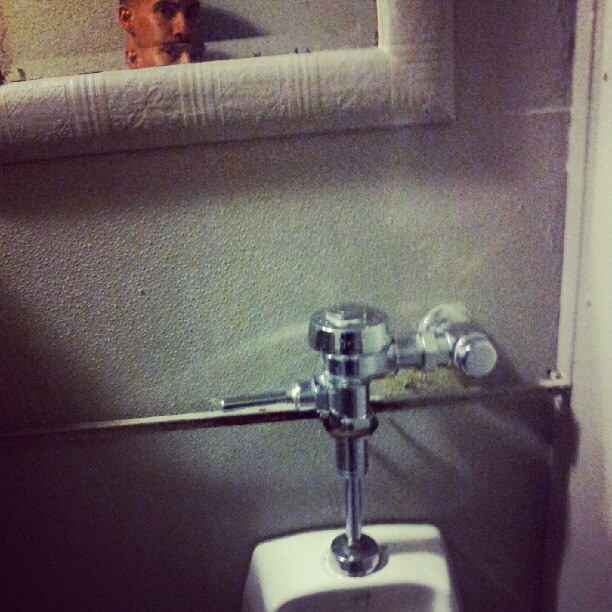 Dear Lounge, why must we watch ourselves piss..? (Taken with  Instagram )