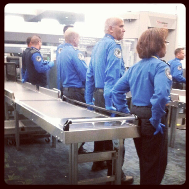 TSA: Working hard. (Taken with Instagram)