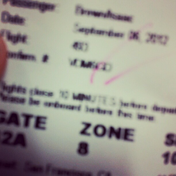 Dayum! How they gon put me in zone 8 on a plane!? Is my seat on the wing!!? (Taken with Instagram)