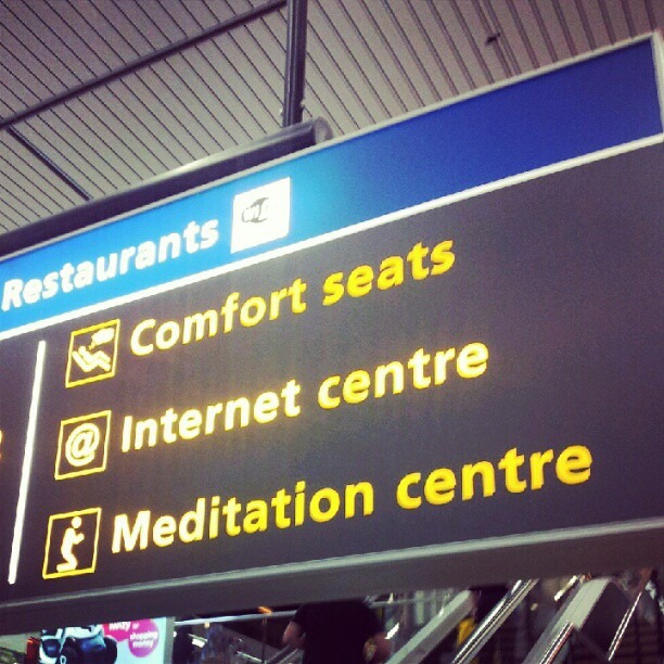 Catch up America… Amsterdam airport (Taken with  Instagram )