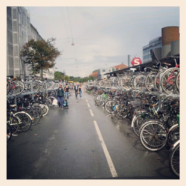 More so than anywhere I've ever been, in Copenhagen bikers rule the city… (Taken with  Instagram )