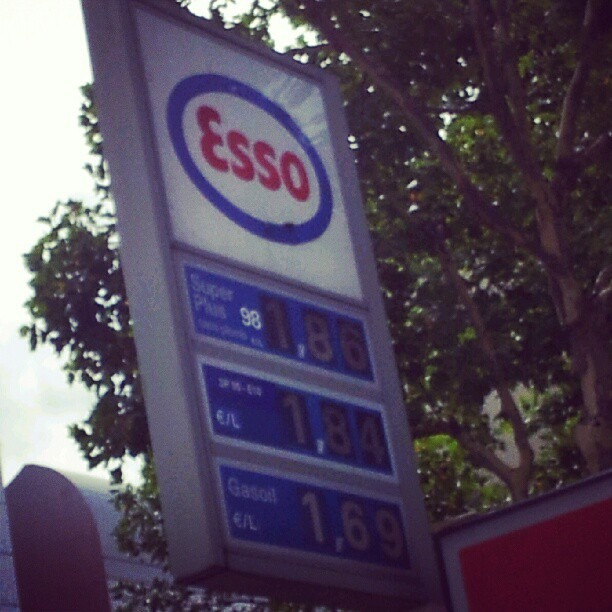 Gas prices in France… (Taken with Instagram)