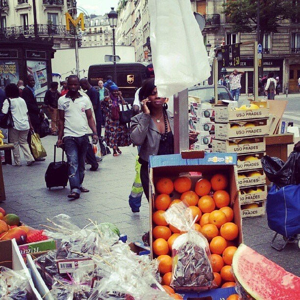 African market in Paris! Chateau Rouge. (Taken with  Instagram )