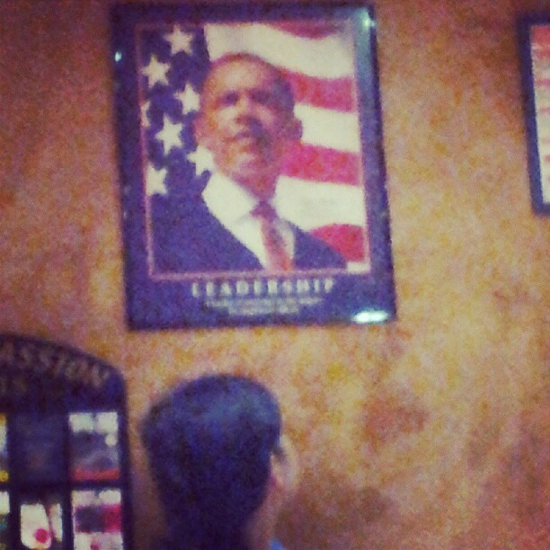 Here in France folks are real blah about English speaking folks and folks from the states really. So its a trip to walk in this spot and see homie on the wall. (Taken with Instagram)