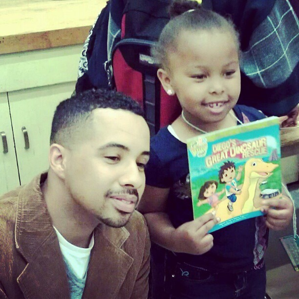 Yesterday I donated 100 books valued at $1400 to MLK Elementary in Oakland. Tbe kids were so juiced and loving. #TalkitWALKIT (Taken with instagram)